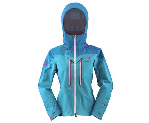 凯乐石kailas KG124162 玄翼碧蓝色女款三层极限无缝冲锋衣