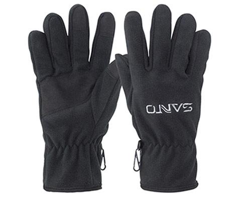 山拓秋冬保暖防滑抓绒手套G-61 黑色
