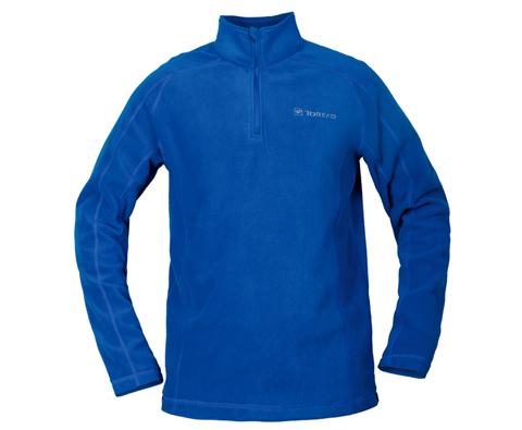 探路者男款超轻抓绒衣 TACB91243 蔚蓝色(超轻保暖抗静电抗起球)