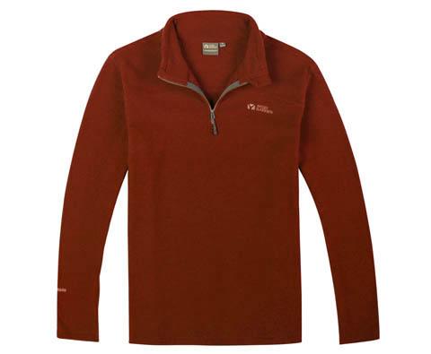 牧高笛男式抓绒衣NMB1311010铁锈红(享受卓越穿衣体验)