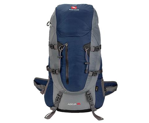 硬骨HARD BONE 爱德加38L专业登山包 HB09105 蓝色(自带防雨罩)