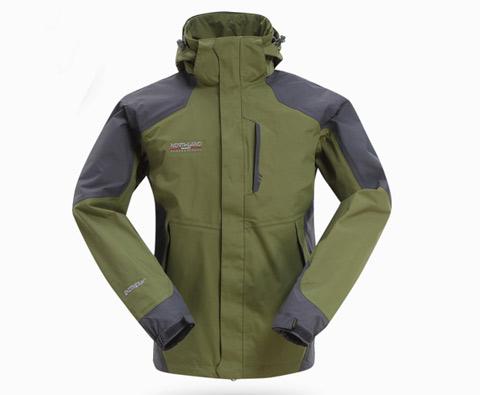 诺诗兰男士冲锋衣(不含抓绒)GS125008(雅普腊)橄榄绿(防风、防水、透气)