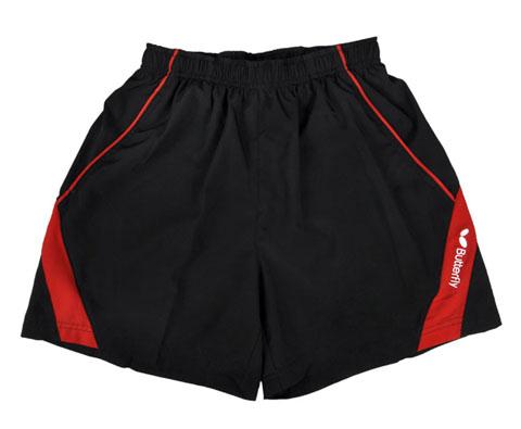 蝴蝶Butterfly BWS321-0201红黑款专业乒乓短裤 男女通用款