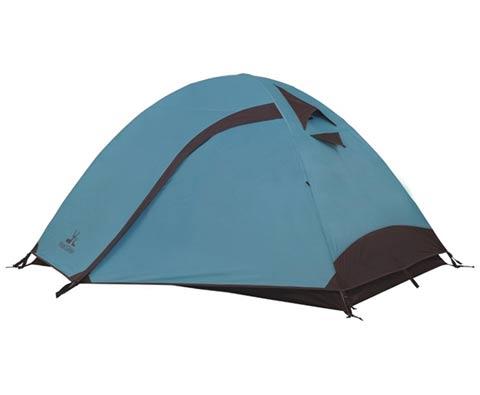 牧高笛彩笛双人双层铝杆帐篷 MZ096001 粉蓝(防风防雨,挂钩式内帐)