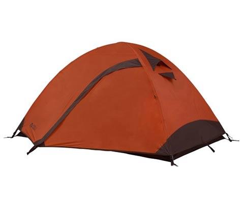 牧高笛彩笛双人双层铝杆帐篷 MZ096001秋菊红(防风防雨,挂钩式内帐)