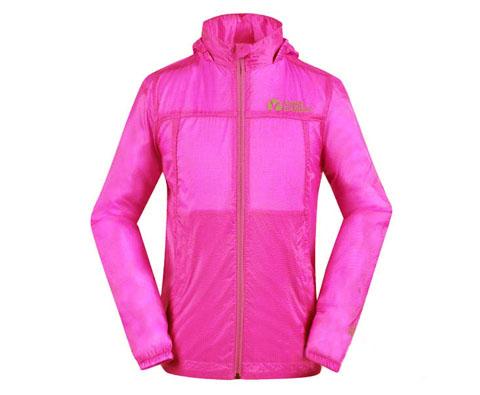 牧高笛女士皮肤衣 NWA1416014 亮枚色(轻薄如丝,柔软亲肤,防水透气)