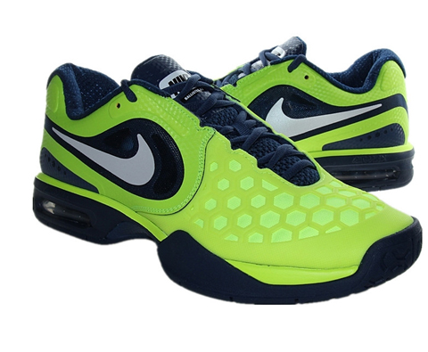 耐克NIKE 纳达尔网球鞋 487986 Air Max CourtBallistec 4.3 绿色