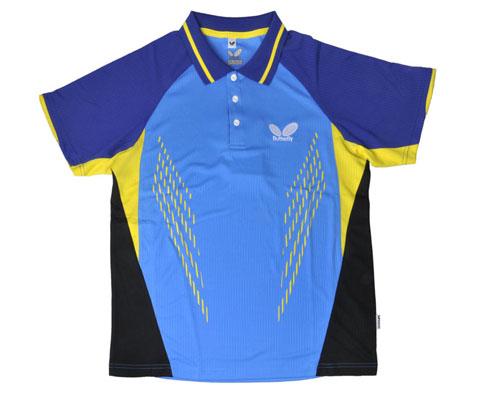 蝴蝶Butterfly BWH260-1415蓝色款乒乓球服(湖水蓝轻量透气)
