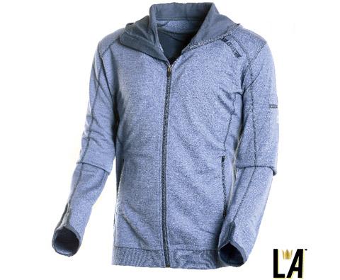 LA美丽诺羊毛男式毛圈外套 1300702 蓝色