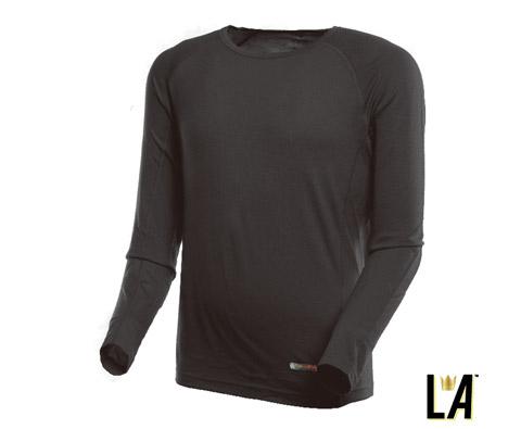 LA男式美丽诺羊毛圆领内衣150g(薄)1310301黑色
