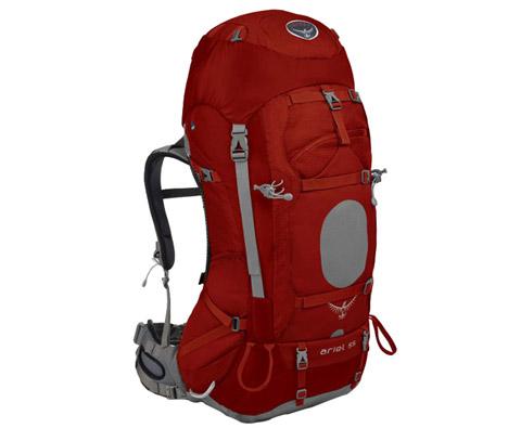 美国OSPREY Ariel(精灵)55 登山包 红色 追求贴合性女士的不二选择