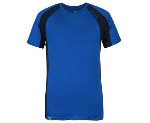 LA 男款羊毛运动短袖 ML84301 蓝色(纯羊毛打造,舒适透气)