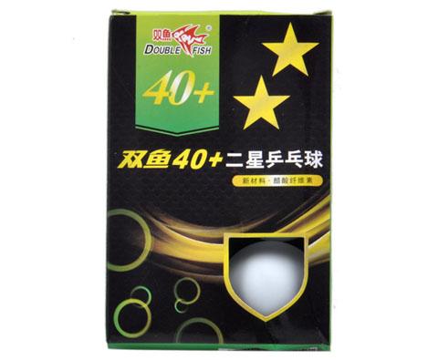 双鱼40+新材料二星乒乓球(6只装)