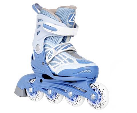 滑启灵动系列儿童可调轮滑鞋/旱冰鞋/溜冰鞋 水翼双蓝