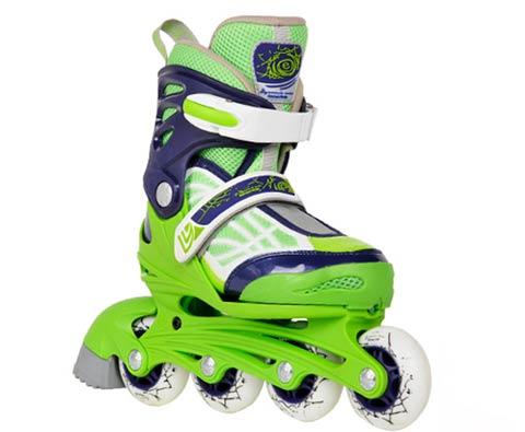 滑启灵动系列儿童可调轮滑鞋 网络蓝绿
