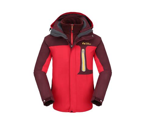 牧高笛男款两件套冲锋衣(烈焰)NMB1418001 魅力红