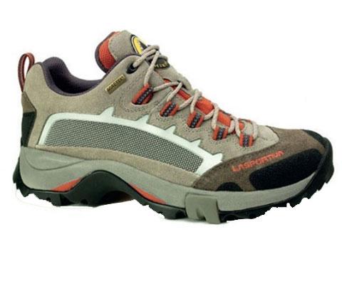 LA SPORTIVA LA355 XCR女款中帮徒步登山鞋 灰红