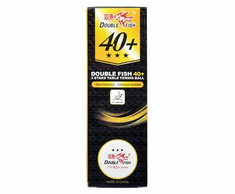 双鱼40+新材料三星乒乓球(3只装)