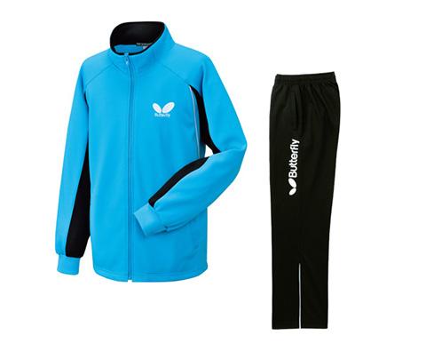 蝴蝶Butterly WSW-426-1402 蓝色乒乓球训练套装 男女通用