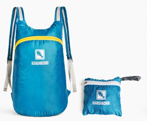 硬骨户外日常14升男女双肩背包折叠收纳包 蓝色(防水超轻易折叠)