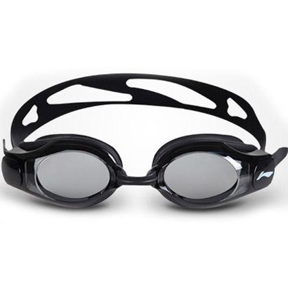 李宁经典近视泳镜 LSJK508 黑色 全网畅销款 高清防雾