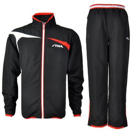 斯帝卡STIGA G1404143新款运动套服 上衣+长裤 黑红款