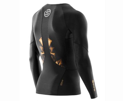 SKINS A400梯度压缩男款长袖 黑金色(梯度压缩,缓解酸痛)