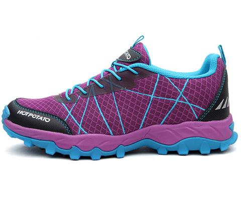 户外特工女款徒步鞋/登山鞋HP9006紫色(超轻透气,适合多种路面)
