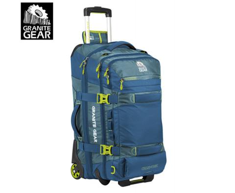 花岗岩131L商务旅行拉杆箱CROSS-TREK蓝色(全球限量版,带背负系统)