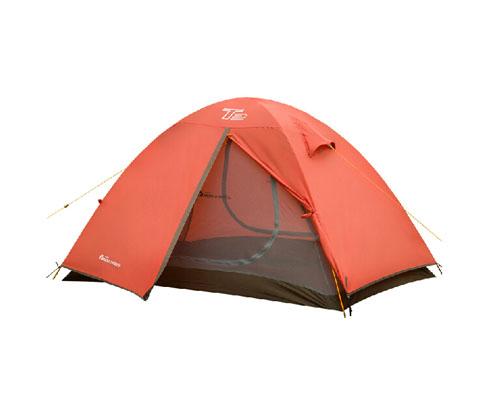 牧高笛T2双人双层三季铝杆帐篷橘色(航空铝支架,更轻更稳固)