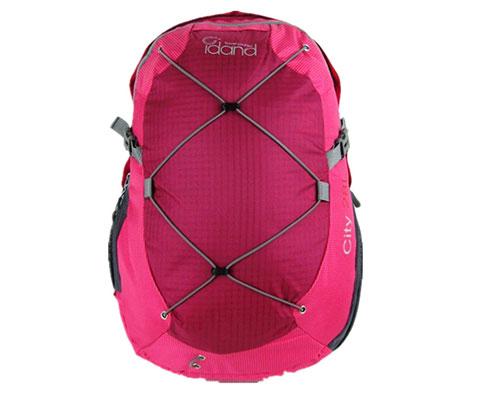 IDAND艾丹28L超轻城市多功能旅行背包 玫红色(轻量的户外旅行背包)