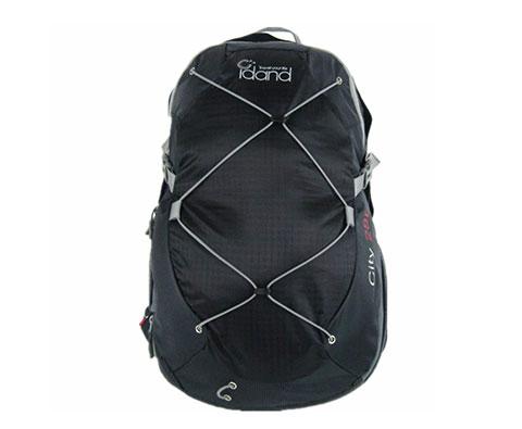 IDAND艾丹28L超轻城市多功能旅行背包 黑色(轻量的户外旅行背包)
