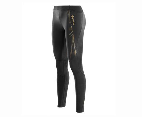 SKINS A400女子梯度压缩长裤 跑步长裤 秋冬跑步健身压缩裤