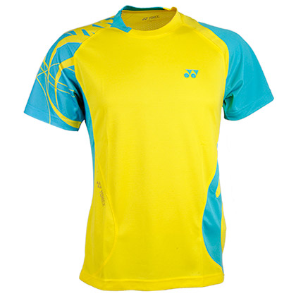 YONEX尤尼克斯CS1136-402男款青绿色羽毛球服(绚丽色彩,团队之选!)