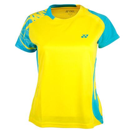 YONEX尤尼克斯CS2136-402女款青绿色羽毛球服(绚丽色彩,团队之选!)
