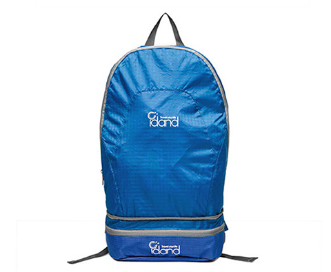 IDAND艾丹18L双肩折叠包ID80144U03蓝色(超轻易折叠,折叠后可作腰包)