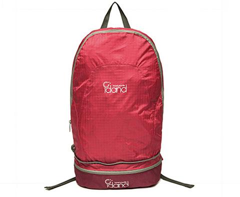 IDAND艾丹18L双肩折叠包ID80144U03红色(超轻易折叠,折叠后可作腰包)