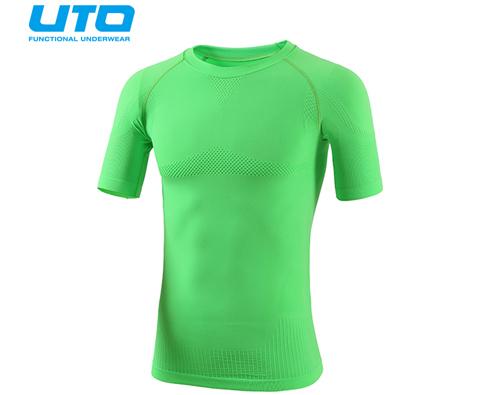 悠途UTO (954101)超能运动T恤 霓虹绿 修身塑形展现完美线条