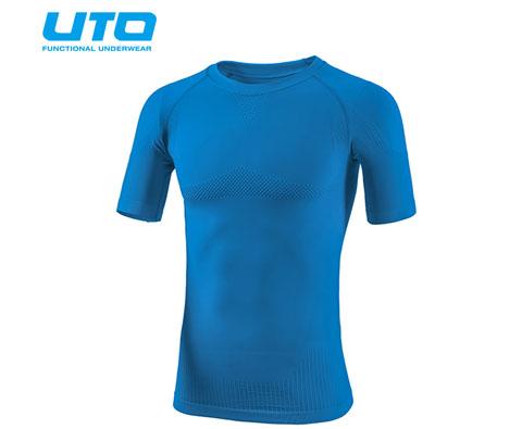 悠途UTO (954101)天蓝色超能运动T恤 修身塑形展现完美线条