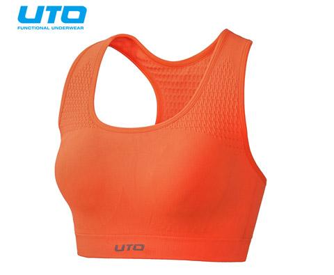悠途UTO(954203)专业跑步文胸 霓虹橙