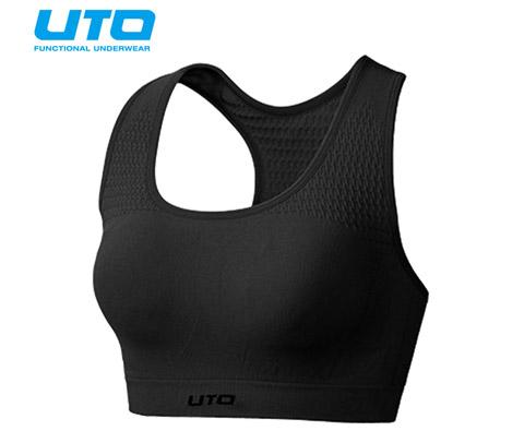 悠途UTO(954203)专业跑步文胸 黑色