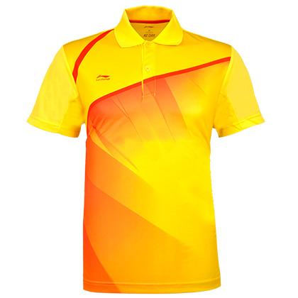 李宁AAYH033-8男款耀黄色羽毛球POLO衫(夏日清爽,团队特供!)