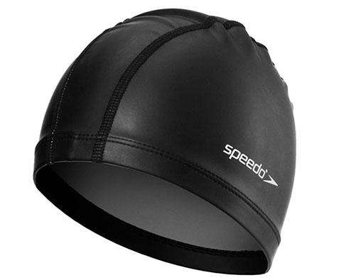 Speedo速比涛成人泳帽11400799黑色(国家游泳队专用品牌)