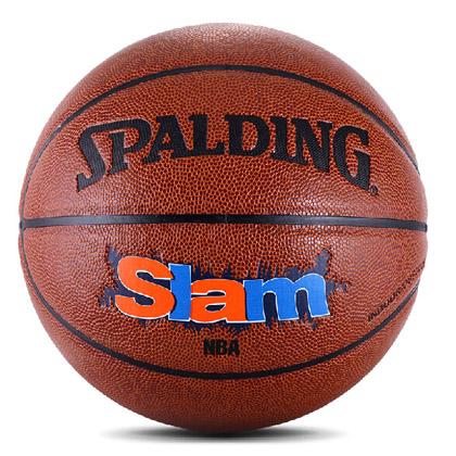 斯伯丁Slam 室内室外两用篮球 Spalding篮球(74-412)来自街头的灌篮高手