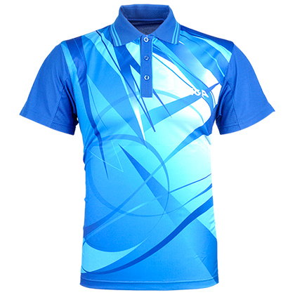 斯帝卡stiga CA-23121专业转移蓝色印花比赛服 乒乓球服