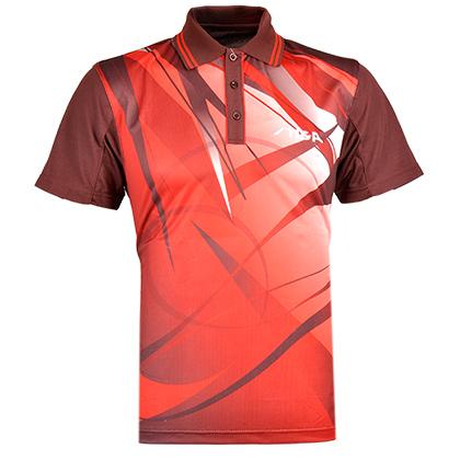斯帝卡stiga CA-23141 专业转移红色印花比赛服 乒乓球服