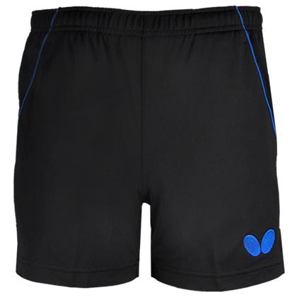 蝴蝶Butterfly BWS-322-0203 蓝黑专业乒乓球短裤 男女款通用 非常畅销 干爽透气