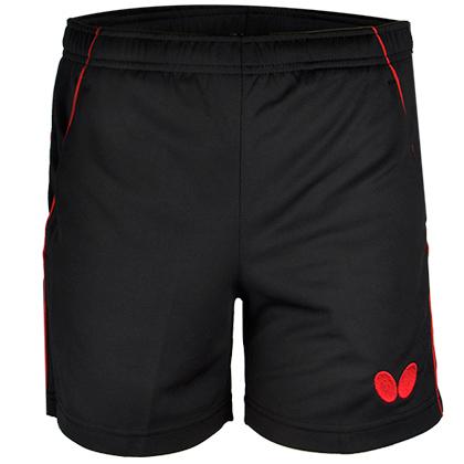 蝴蝶Butterfly BWS-322-0201 红黑专业乒乓球短裤