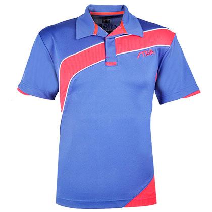 斯帝卡stiga CA-251214 专业拼接比赛服 乒乓球服 藏青 红色