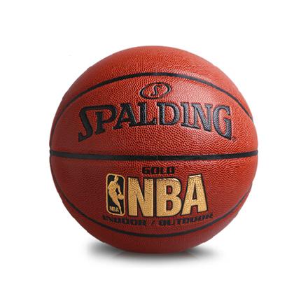 斯伯丁NBA金色經典軟PU室內室外兩用籃球 Spalding籃球 (74-606Y)